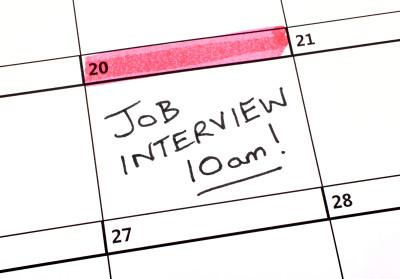 Job Interview Date in a Calendar