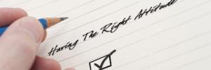 having the right attitude blog image