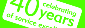 40 years of service excellence