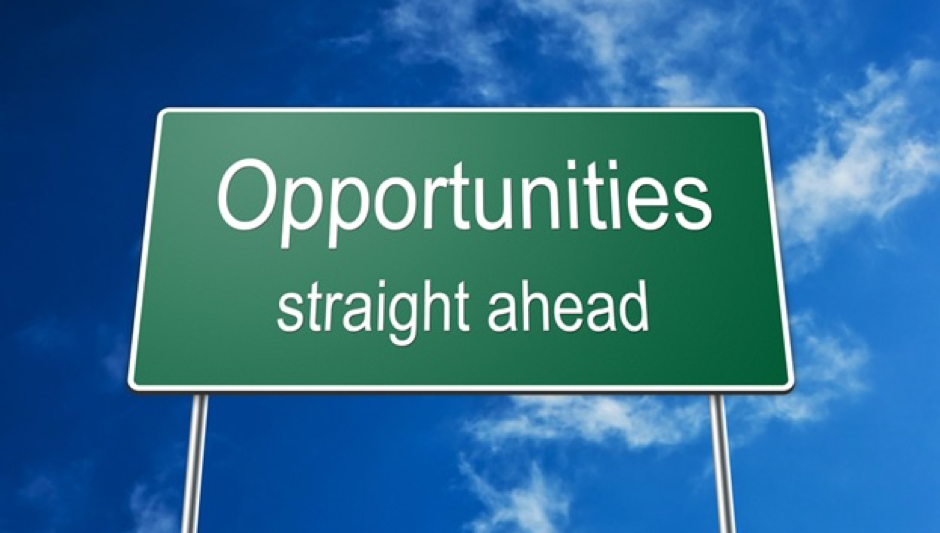 Opportunities Straight Ahead Sign Board