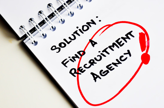 Recruitment Agency Written On A Notepad